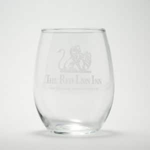 Red Lion Inn Stemless Wine Glass